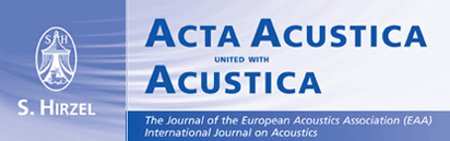 Νέο τεύχος του Acta Acustica united with Acustica (Vol. 103, Issue 2)